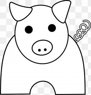 Pig Line Art - Domestic Pig Free Content Clip Art PNG