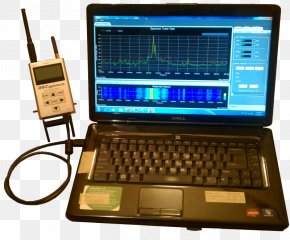 Signal Strength In Telecommunications - Laptop Spectrum Analyzer Radio Frequency Analyser Detector PNG