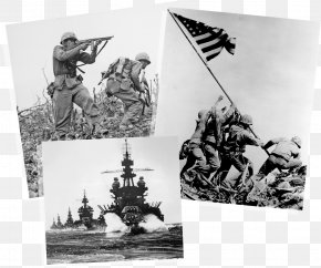 72nd Anniversary Anti Japanese War Victory - Raising The Flag On Iwo Jima Battle Of Iwo Jima Mount Suribachi Second World War United States PNG