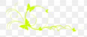 Green Butterfly - Logo Plant Stem Graphic Design Leaf Flower PNG