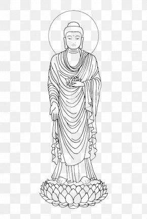 Simple Hand-painted Standing Shakya Muni Buddha - Shakya Tibetan Buddhism Tibetan Buddhism Cundi PNG