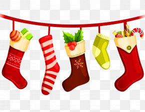 Santa Claus - Christmas Stockings Santa Claus Gift Sock PNG