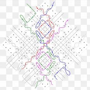 Trellis Drainage Pattern - Diagram Pattern Tessellation Point Lace PNG