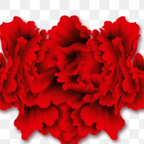 Creative Lantern Festival - Carnation Cut Flowers Floral Design Red PNG