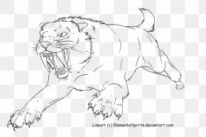 Lion - Lion Tiger Cheetah Whiskers Saber-toothed Cat PNG