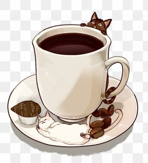 Hand-painted Coffee - Coffee Tea Cafe Hot Chocolate Drink PNG
