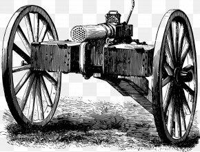Vector Mountain Artillery - France Franco-Prussian War Mitrailleuse Machine Gun Weapon PNG