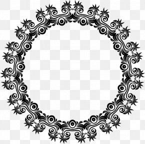 Rose Decorative Frame - Motif Art Ornament Clip Art PNG