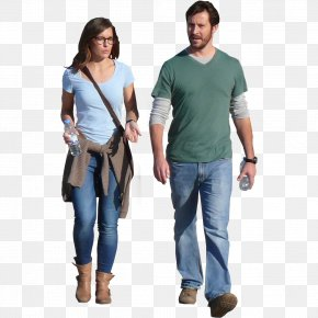 Walking - People Visualization Architectural Rendering PNG
