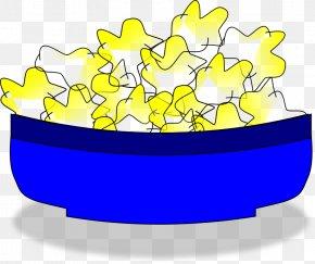 A Blue Bowl Of Popcorn - Popcorn Bowl Free Content Clip Art PNG