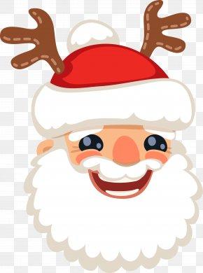 Happy Santa Claus - Santa Claus Reindeer Christmas Clip Art PNG