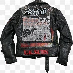 Jacket - Leather Jacket Punk Fashion T-shirt PNG