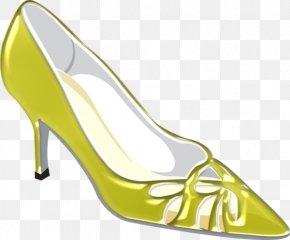 Cartoon Green Decorative Design Heels - Shoe PNG