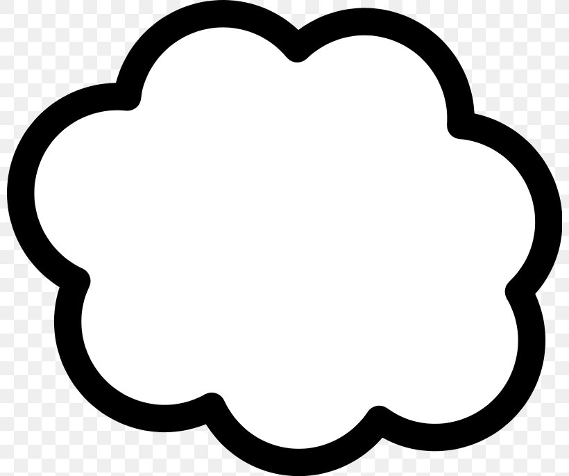 Cloud Computing Clip Art, PNG, 800x685px, Cloud, Area, Art, Black, Black And White Download Free