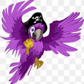 Pirate Parrot Transparent - Piracy Parrot Clip Art PNG