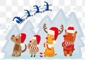 Santa Claus Vector Festive Atmosphere - Santa Claus Christmas Carol Quiz Father Christmas PNG