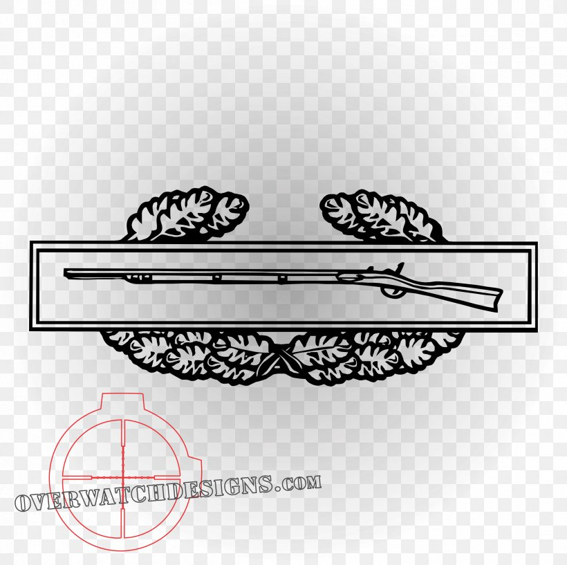 US Army Combat Infantry Badge Clear Decal