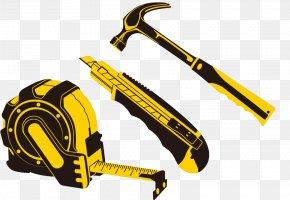 Ruler Hammer Installation Tool Knife - Hand Tool Tape Measure Measuring Instrument PNG