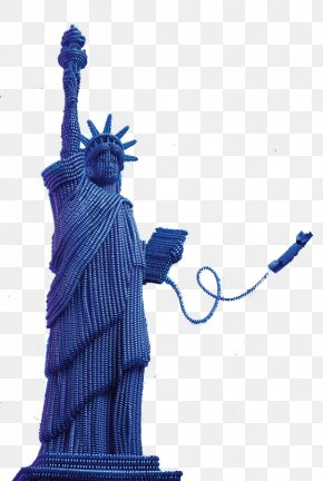 FIG Telephone Line To Do The Statue Of Liberty - Statue Of Liberty Telephone Line Sculpture PNG