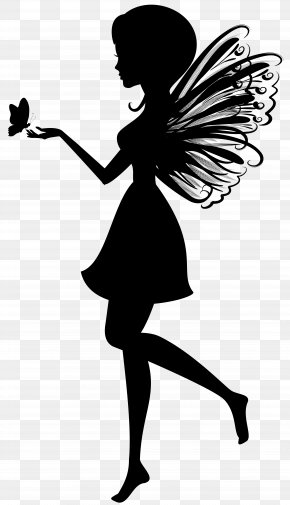 Fairy With Butterfly Silhouette Clip Art Image - Fairy Silhouette Clip Art PNG