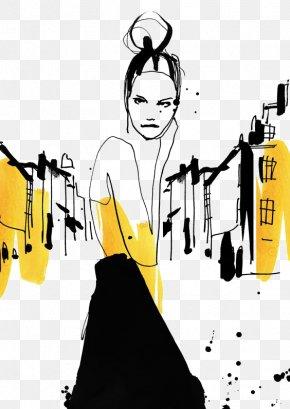 Graffiti Fashion Model - Garance Dorxe9 Fashion Illustration Drawing Illustration PNG