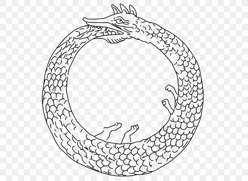 925 Sterling Silver Charm Ouroboros Uroborus Norse Dragon Serpent