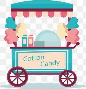 Green Cotton Candy Cart - Cotton Candy Candy Cane Lollipop Sweetness Clip Art PNG