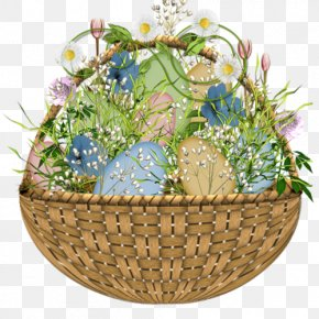 Easter Flower Egg Basket - Easter Bunny Easter Basket Easter Egg PNG