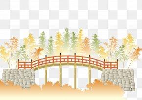 Vector Japanese Landscape Bridge - Landscape Download Illustration PNG