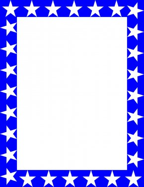 Free Blue Borders And Frames - Star Blue Red Clip Art PNG