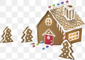 Cartoon Christmas Gingerbread House - Gingerbread House Ginger Snap The Gingerbread Man Clip Art PNG