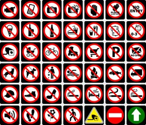 Traffic Sign Prohibiting - Traffic Sign No Symbol Icon PNG