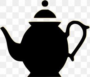 Teapot Silhouette - Teapot Green Tea Teacup Clip Art PNG