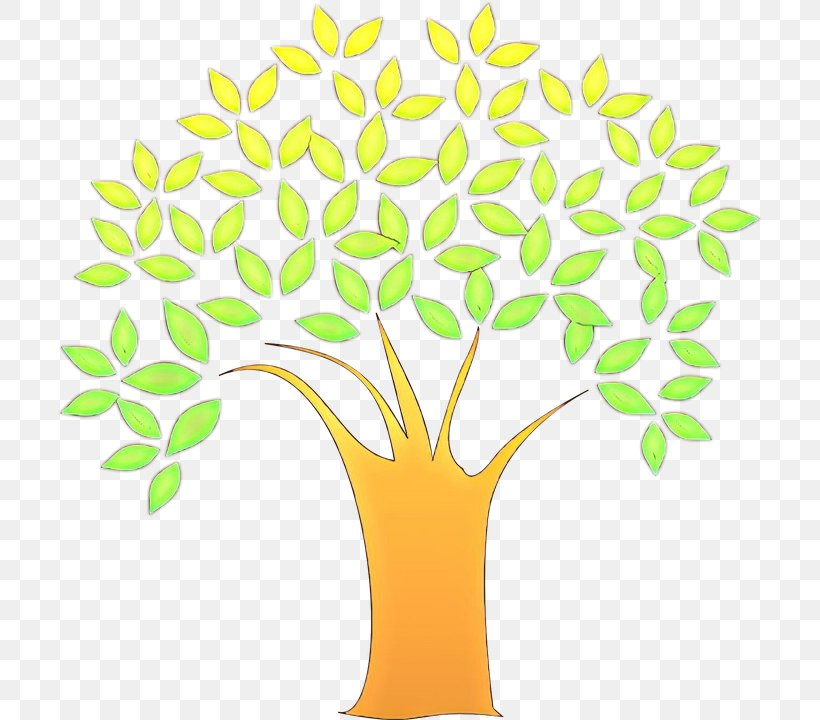 Yellow Green Clip Art Leaf Tree, PNG, 706x720px, Cartoon, Flower, Flowerpot, Green, Leaf Download Free
