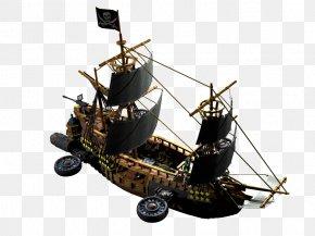 Boat - Caravel Piracy Galleon Boat Navio Pirata PNG