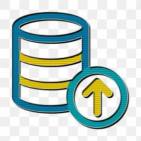 Symbol Yellow - Big Data Icon Database Icon Hosting Icon PNG