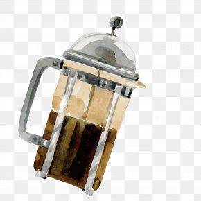 Painted Juice Machine - Coffee Cup PNG