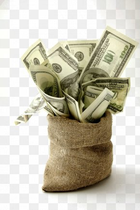A Bag Of Dollar Bills - United States Dollar Finance Money Investment Bank PNG