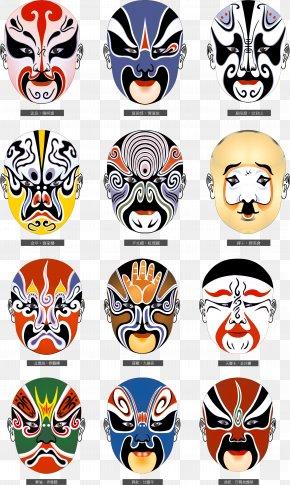 Peking Opera - China Chinese Opera Peking Opera Mask Meaning PNG