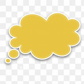 Vector Yellow Cloud Bubble Dialog Box - Yellow Circle Fruit Pattern PNG