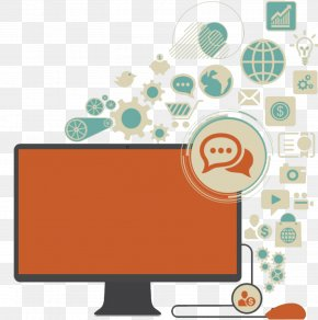 Computer Information Data Illustration - Computer Data Illustration PNG