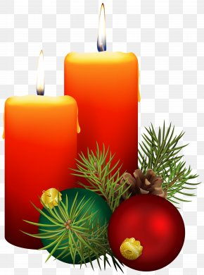 Christmas Candles Clip Art Image - Image File Formats Lossless Compression PNG