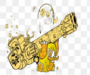 Yellow Artillery Illustration - Yellow Shell Illustration PNG