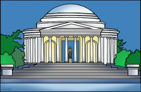 Jefferson Cliparts - Lincoln Memorial White House Thomas Jefferson Memorial United States Capitol Abraham Lincoln PNG