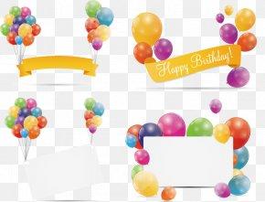 Birthday Banner - Balloon Birthday Stock Illustration PNG