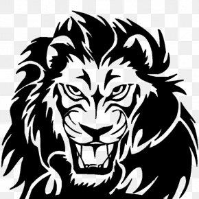 Lion - Lion Tattoo Line Art Clip Art PNG