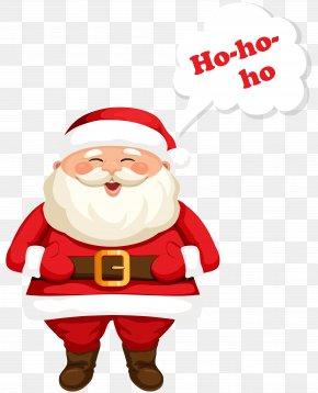 Santa Claus Ho-Ho-Ho Clipart Image - Santa Claus Christmas Ornament Text Clip Art PNG