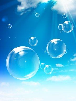 Transparent Bubbles Sun Clouds Psd - Heart Wallpaper PNG