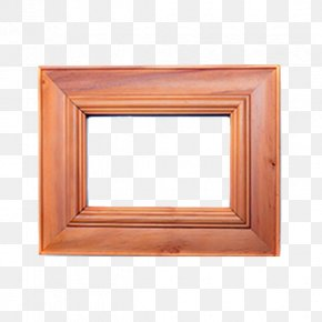 Solid Wood Rims - Window Wood Stain Picture Frame Rectangle PNG