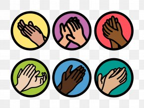 Spanish Words Clip Art Clapping Hands - Clip Art Applause Clapping Vector Graphics PNG